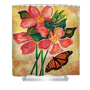 Floral With Butterfly Shower Curtain