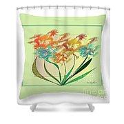 Floral Wonder  Pillow Shower Curtain
