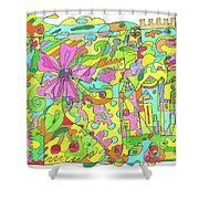 Floral World Shower Curtain