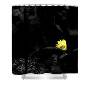 Floral Yellow Peek A Boo Sc Shower Curtain