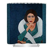 Florbela Espanca - There Is A Spring In Every Life  Shower Curtain