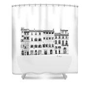 Florence City Scene Shower Curtain