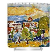 Florence From A Hill Shower Curtain