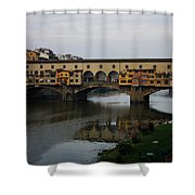 Florence Italy - An Autumn Day At Ponte Vecchio Shower Curtain
