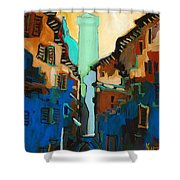 Florence Street Study Shower Curtain