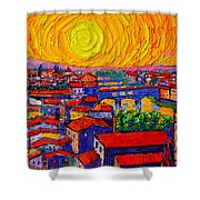 Florence Sunset 12 Shower Curtain