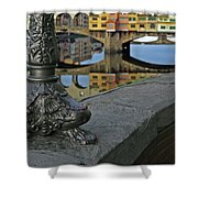 Florence The Old Bridge Shower Curtain