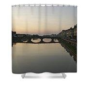 Florence, Tuscany, Italy, Sunset Shower Curtain
