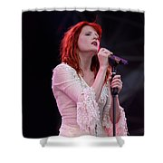 Florence Welch Singer Of Florence And The Machine Performing Live - 002 Shower Curtain