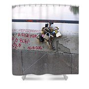 Florentine Love Locks Shower Curtain