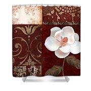 Flores Blancas Square I Shower Curtain