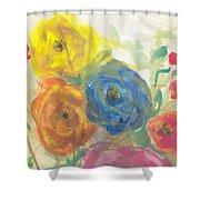Flores Shower Curtain