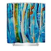 Floresta Azul Shower Curtain
