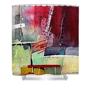 Florid Dream - Red Shower Curtain