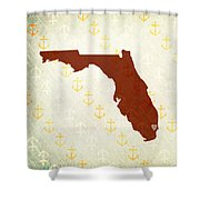 Florida Anchors Shower Curtain
