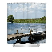 Florida Backwater Shower Curtain