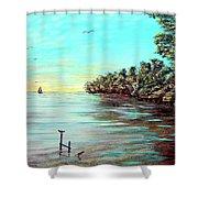 Florida Bay's Elliot Key Shower Curtain
