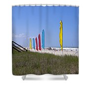 Florida Beach On The Atlantic Shower Curtain