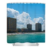 Florida Beach Panama City Shower Curtain
