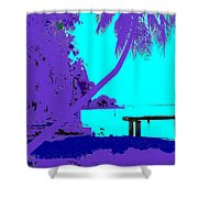 Florida Blues Shower Curtain