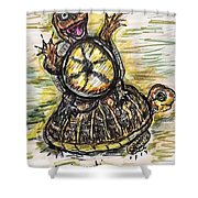 Florida Box Turtle Shower Curtain
