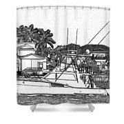 Florida Coastal Living Work D Shower Curtain