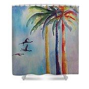 Florida Color Shower Curtain