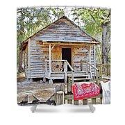 Florida Cracker Church And School House Shower Curtain