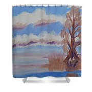 Florida Cypress Shower Curtain