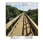 Florida Dune Walk Shower Curtain