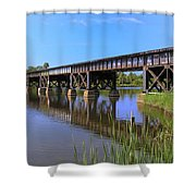 Florida East Coast Railroad Bridge Shower Curtain