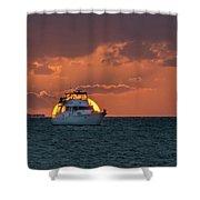 Florida Eclipse Shower Curtain