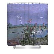 Florida Everglades Thunderstorm Shower Curtain