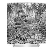 Florida Garden Scene_009 Shower Curtain