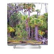 Florida Greens Shower Curtain