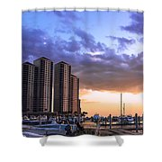Florida Highrise Shower Curtain