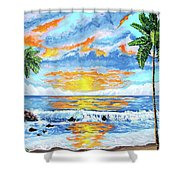 Florida Keys Beach Sunset Shower Curtain