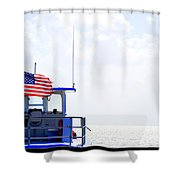 Florida Keys Patriot Shower Curtain