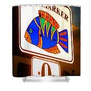 Florida Mile Marker 0 Shower Curtain