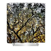 Golden Moss Shower Curtain