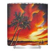 Florida Orange Shower Curtain