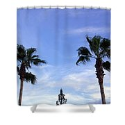 Florida Queen Palm   Shower Curtain