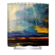 Florida Seascape Shower Curtain