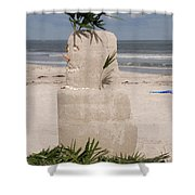 Florida Snow Man Shower Curtain