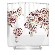 Florida State University Colors Swirl Map Of The World Atlas Shower Curtain