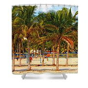 Florida Style Volleyball Shower Curtain