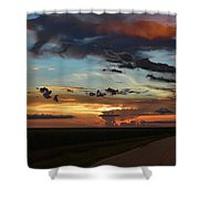 Florida Sunset Winding Road 2 Shower Curtain