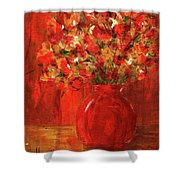 Florists Red Shower Curtain