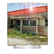 Flo's Roadside Diner Shower Curtain