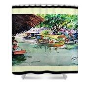 Floting Market Shower Curtain